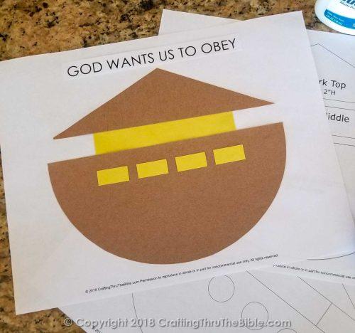 Noah's Ark Craft on White Paper
