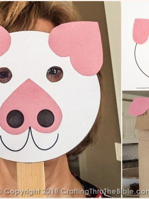 Pig Crafts - Puppet, Mask or Worksheet